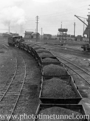 Locomotive 5134 hauling coal wagons, October 24, 1936. (2)