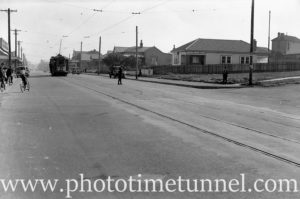 Maitland Road, Mayfield, Newcastle, near the Havelock Street intersection, May 20, 1939.
