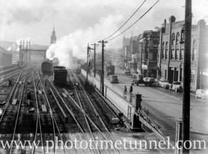 Smoke over Scott Street, Newcastle, NSW, May 30, 1939. (1)