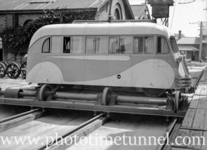 Railways payroll car at Newcastle, NSW, September 16, 1937.