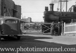 At the Beaumont Street railway gates, Hamilton, Newcastle, NSW, September 31, 1937.
