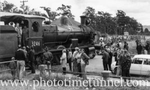 Visit of steam locomotive 3246 to Cessnock, July 18, 1971. (2)