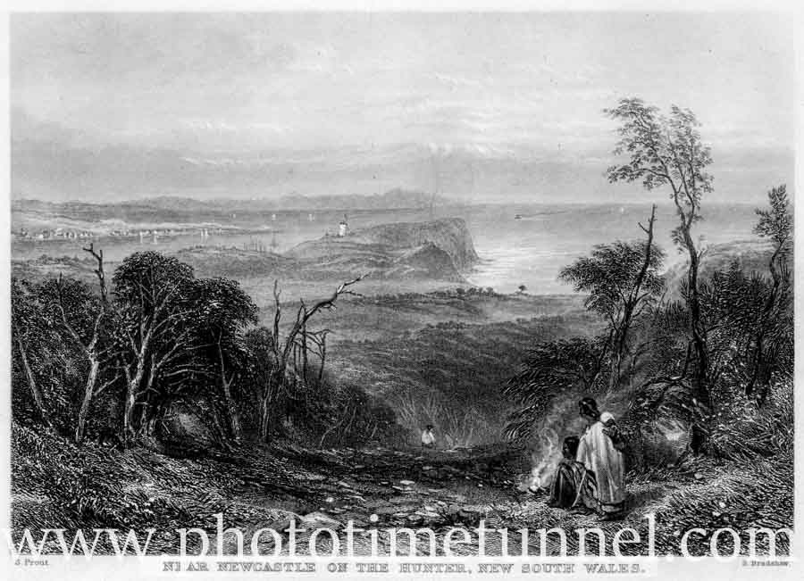 Near Newcastle on the Hunter, New South Wales, by John Skinner Prout, circa 1840s