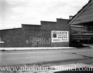 Lett's clothing factory and store, Cessnock, NSW, 1967.