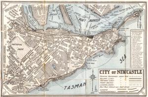 Street directory map of Newcastle, NSW, circa 1929. (2)