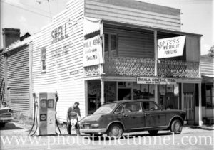Sofala general store and service station, NSW, 1969.