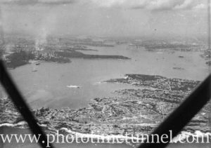 Aerial view of Sydney Harbour, NSW, circa 1940s. (1)