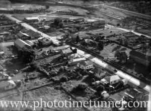 Aerial view of the Lake Macquarie suburb of Teralba, NSW, circa 1940s.