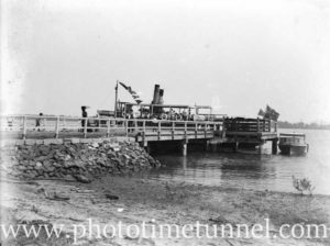 Steam vessels at the government wharf, Tomago, on the Hunter River near Newcastle, NSW. (2)