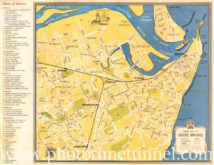 Tourist map of Newcastle, NSW, published by Newcastle City Council, circa 1940s.