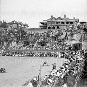 End of South Steyne, Manly, Sydney NSW. Early 20th century.
