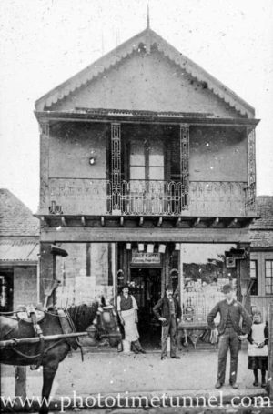Evans' shop, the Corso, Manly, Sydney NSW c1900.