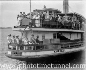 Ex-Sydney Harbour ferry Kurnell in Newcastle Harbour, circa 1934. (3)