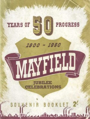Mayfield Jubilee booklet, 50 years of progress, 1900 to 1950 (PDF booklet download)