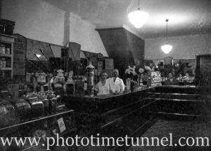 Interior of a confectionery store, Sydney NSW, circa 1920. (2)