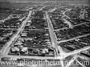 Aerial view of part of Merewether, Newcastle, NSW, circa 1940s.