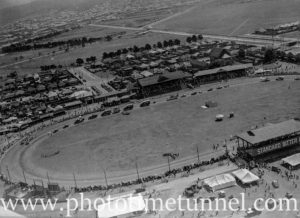 Aerial view of showground, Newcastle, NSW, circa 1940s.