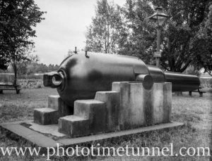 10-inch Armstrong gun at Ballarat, Victoria, 1936.