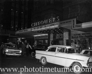 View outside Chequers nightclub, Goulburn Street, Sydney, September 14, 1963.