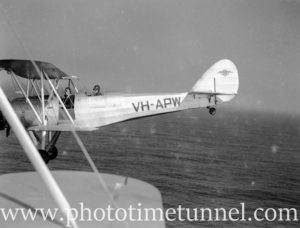 Avro Cadets in flight off Newcastle, NSW. c1940s (2)