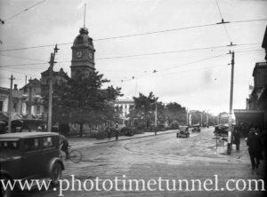 Street scene in Ballarat, Victoria, 1936.