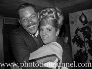 American musician Billy Eckstine at Chequers nightclub, Sydney, January 1965.