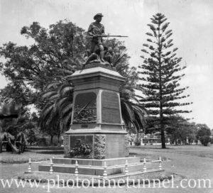 Boer war monument at Kings Park, Perth, WA, 1936