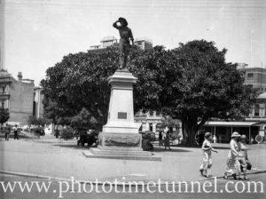 Statue of explorer Charles Sturt, Adelaide, SA, 1936.