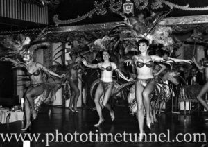 Dancers at Chequers nightclub, Sydney, during Leslie Uggams' show, June 9, 1965. (1)