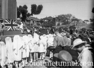 Service being conducted at East Maitland war memorial, NSW, circa 1930s.