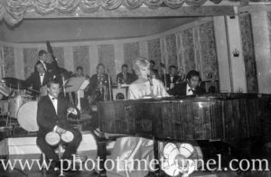 American cabaret singer Frances Faye at Chequers nightclub, Sydney, April 10, 1965. (1)