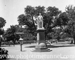Statue of explorer John McDouall Stuart, Adelaide, SA, 1936.