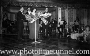 American actress and soprano Kathryn Grayson at Chequers nightclub, Sydney, 1960s. (2)