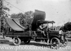 Truck belonging to H.G. Pullin, carrier, Marrickville, NSW. Circa 1920.