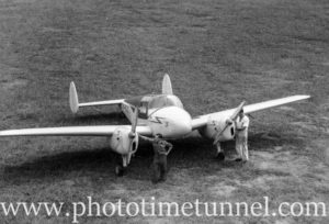 Miles Gemini aircraft at Newcastle Aero Club. Circa 1948. (6)