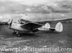 Miles Gemini aircraft at Newcastle Aero Club. Circa 1948. (7)