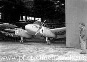 Miles Gemini aircraft at Newcastle Aero Club. Circa 1948. (9)
