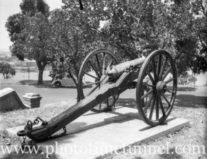 Old cannon in Kings Park Perth, WA, 1936.