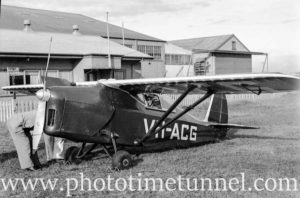 Comper Swift aircraft at Newcastle Aero Club, circa 1940s.