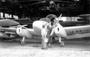 Miles Gemini aircraft at Newcastle Aero Club. Circa 1948.