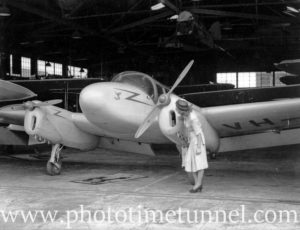 Miles Gemini aircraft at Newcastle Aero Club. Circa 1948. (2)