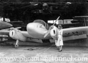 Miles Gemini aircraft at Newcastle Aero Club. Circa 1948. (3)