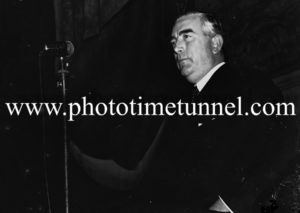Conservative Australian prime minister Robert Gordon Menzies in Newcastle. (2)
