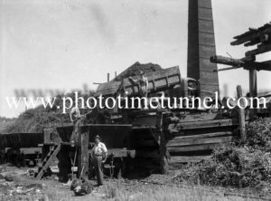 Open-cut coalmining at Wallsend, Newcastle, NSW. Circa 1940s.