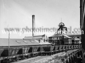 Aberdare Colliery in the Hunter Valley, NSW, August 7, 1945.