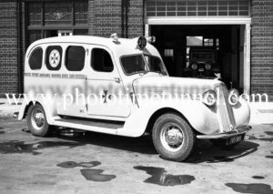 New ambulances on display at Hamilton ambulance station, Newcastle, NSW, September 24, 1936. (3)