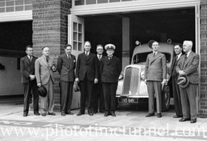 New ambulances on display at Hamilton ambulance station, Newcastle, NSW, November 9, 1936. (3)