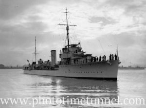 Destroyer HMAS Stuart in Newcastle Harbour, NSW, April 14, 1936. (2)