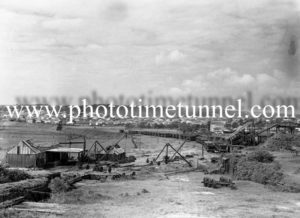 General view of an unidentified colliery in the Hunter Valley, NSW, circa 1940s.