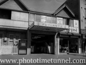 Exterior of Funlands amusement parlour in Hunter Street, Newcastle, NSW, July 30, 1960.